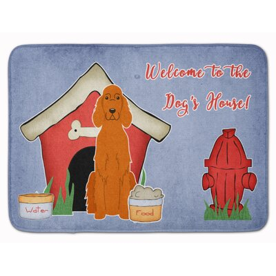 Dog House Irish Setter Memory Foam Bath Rug