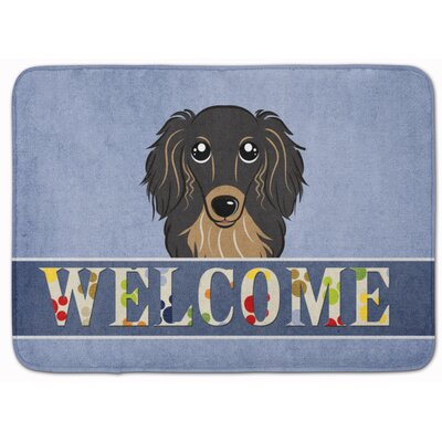 Kimbolton Long Hair Dachshund Memory Foam Bath Rug Color: Black/Tan