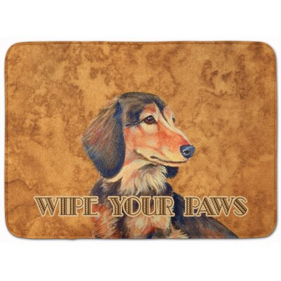 Kimbolton Long Hair Dachshund Memory Foam Bath Rug