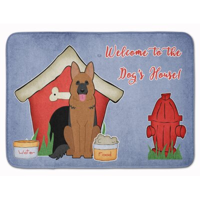 Dog House German Shepherd Memory Foam Bath Rug