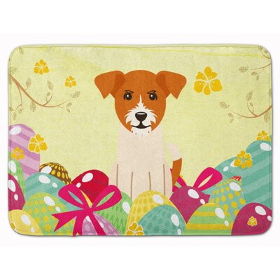 Easter Eggs Jack Russell Terrier Memory Foam Bath Rug