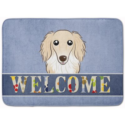 Kimbolton Long Hair Dachshund Memory Foam Bath Rug Color: Cream