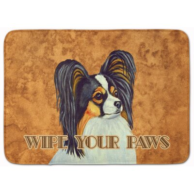 Papillon Wipe Your Paws Memory Foam Bath Rug