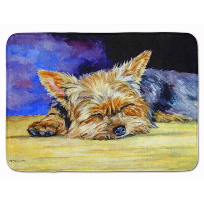 Yorkie Taking a Nap Memory Foam Bath Rug