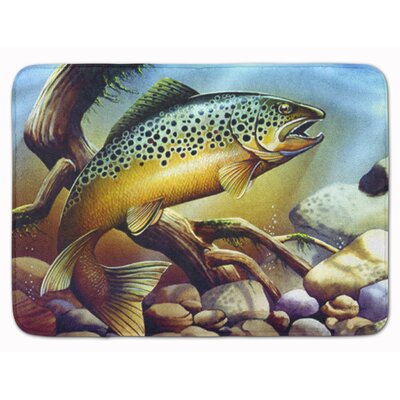 Brook Trout Memory Foam Bath Rug