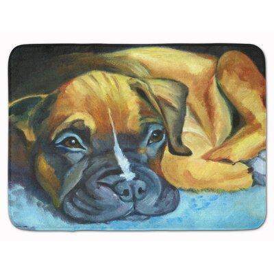 Boxer Pup Memory Foam Bath Rug