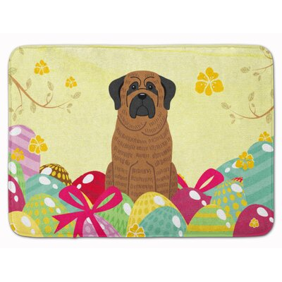 Easter Eggs Mastiff Brindle Memory Foam Bath Rug Color: Brindle
