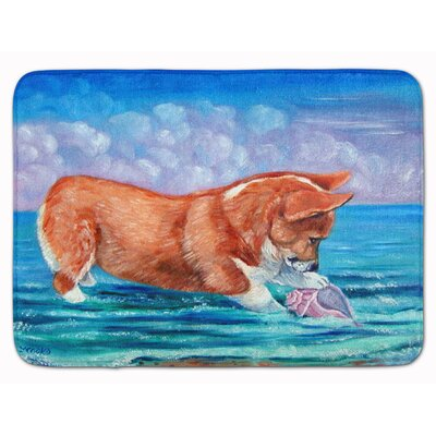 Corgi Sea Shell Find Memory Foam Bath Rug