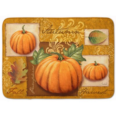 Fall Harvest Pumpkins Memory Foam Bath Rug
