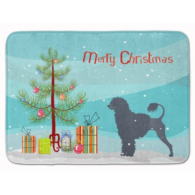 Portuguese Water Dog Christmas Tree Memory Foam Bath Rug
