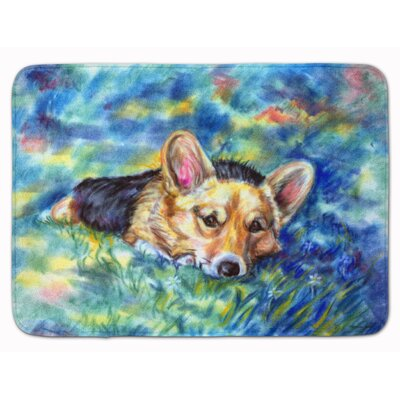 Corgi Tuckered Out Memory Foam Bath Rug