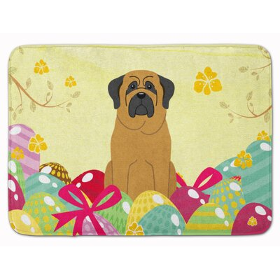 Easter Eggs Mastiff Memory Foam Bath Rug Color: Brown