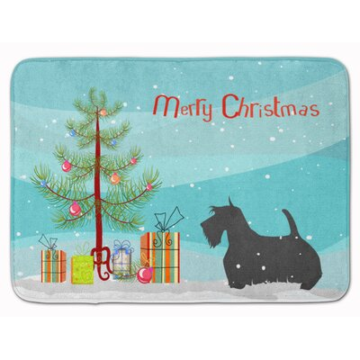 Scottish Terrier Merry Christmas Tree Memory Foam Bath Rug