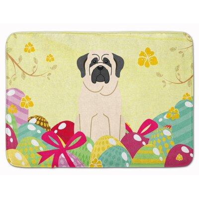 Easter Eggs Mastiff Memory Foam Bath Rug Color: White
