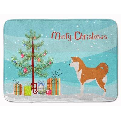 Akita Merry Christmas Tree Memory Foam Bath Rug