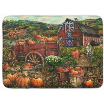 Pumpkin Patch and Fall Farm Memory Foam Bath Rug