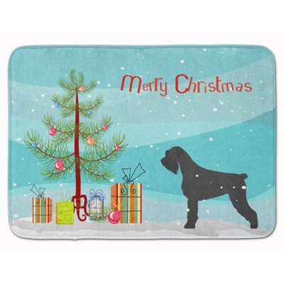 Giant Schnauzer Merry Christmas Tree Memory Foam Bath Rug