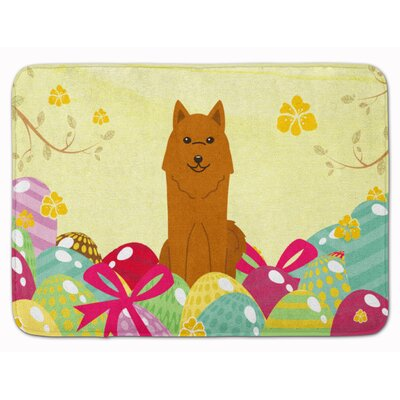 Easter Eggs Karelian Bear Dog Memory Foam Bath Rug