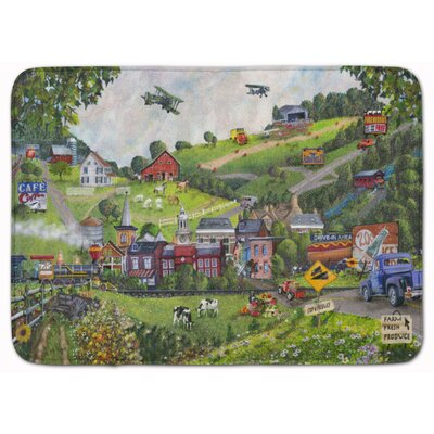 Summer in Small Town USA Memory Foam Bath Rug
