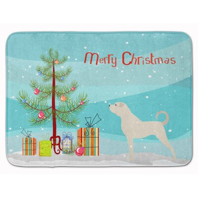 Anatolian Shepherd Merry Christmas Tree Memory Foam Bath Rug