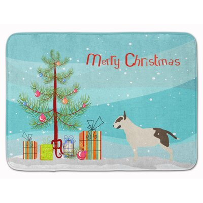 Bull Terrier Merry Christmas Tree Memory Foam Bath Rug