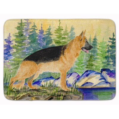 German Shepherd Memory Foam Bath Rug