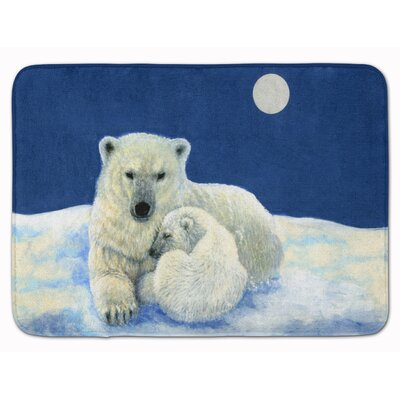 Polar Bears Moonlight Snuggle Memory Foam Bath Rug