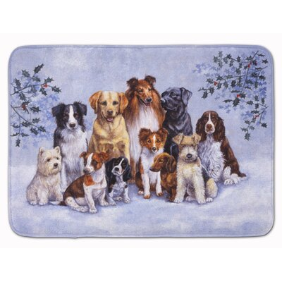 Winter Dogs Memory Foam Bath Rug