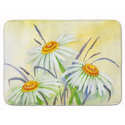 Daisies by Maureen Bonfield Memory Foam Bath Rug