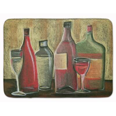 Wine by Tiffany Budd Memory Foam Bath Rug