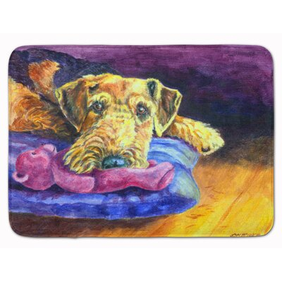 Airedale Terrier Teddy Bear Memory Foam Bath Rug