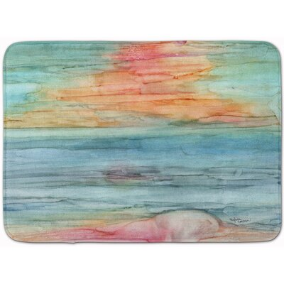 Abstract Rainbow Memory Foam Bath Rug