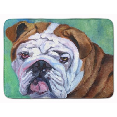 Admiral the English Bulldog Memory Foam Bath Rug