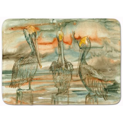 Pelican on their Perch Abstract Memory Foam Bath Rug