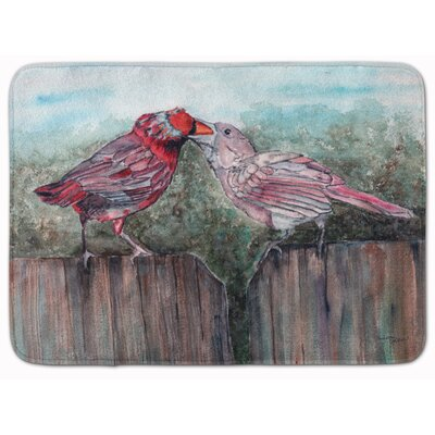 Bird Feeding Memory Foam Bath Rug