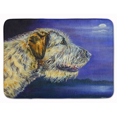 Jasper Irish Wolfhound Looking Memory Foam Bath Rug