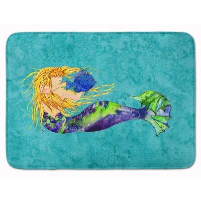Mermaid Blonde Memory Foam Bath Rug