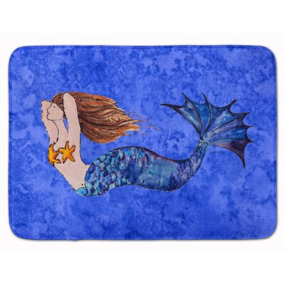 Mermaid Brunette Memory Foam Bath Rug