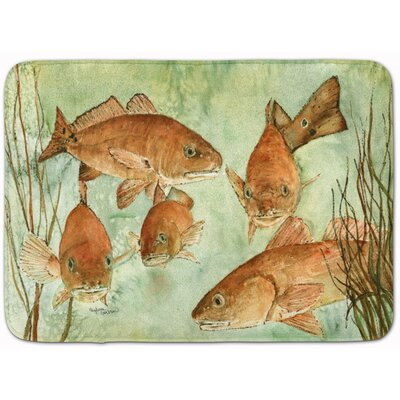 Egremont Fish Swim Memory Foam Bath Rug