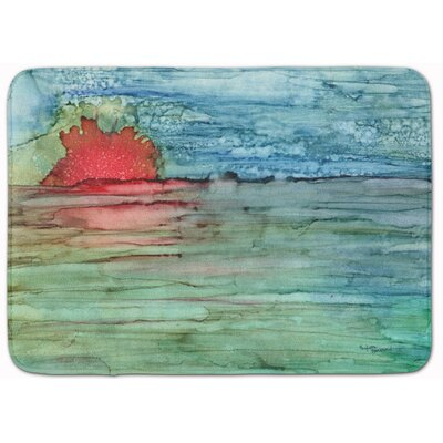 Sunset Abstract on the Water Memory Foam Bath Rug