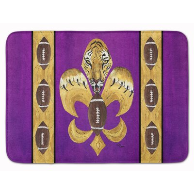 Tiger Football Fleur de lis Memory Foam Bath Rug