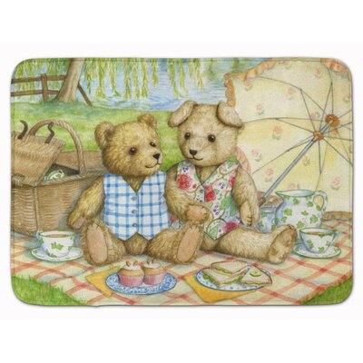Logan Summertime Teddy Bears Picnic Memory Foam Bath Rug