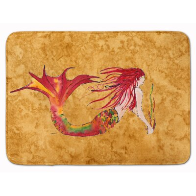 Mermaid Ginger Headed Memory Foam Bath Rug