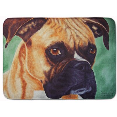 Boxer by Tanya and Craig Amberson Memory Foam Bath Rug