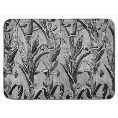 Corn Ironwork Fence Memory Foam Bath Rug