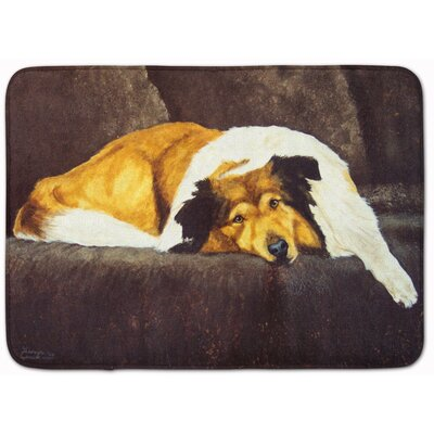 Collie by Tanya and Craig Amberson Memory Foam Bath Rug