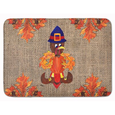 Thanksgiving Turkey Pilgram Fleurdelis Memory Foam Bath Rug