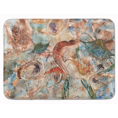 Crabs, Shrimp and Oysters on the loose Memory Foam Bath Rug