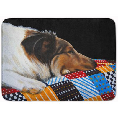 Day Dreamer Collie Memory Foam Bath Rug