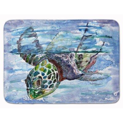 Eastover Loggerhead Sea Turtle in a Dive Memory Foam Bath Rug